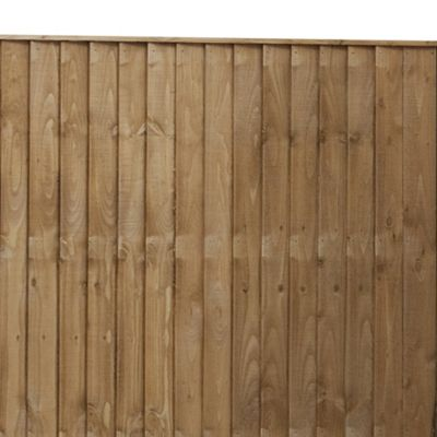 Mercia Vertical Featheredge Fencing 5 Panel and Post Pack