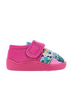 Girls Paw Patrol Pink Slippers Girls Kids Hook & Loop UK Infant Sizes 5 to 10 - Pink