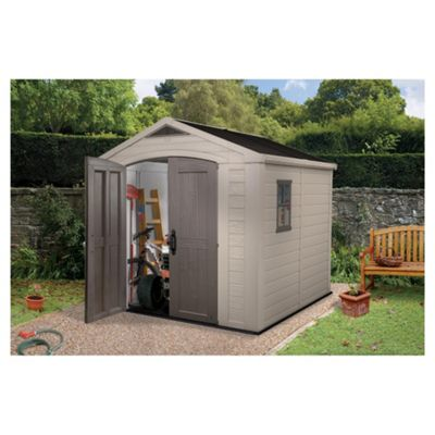 keter apex plastic garden shed 8x8 ft