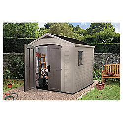 keter apex plastic garden shed 8x8 ft - Garden Sheds Edinburgh