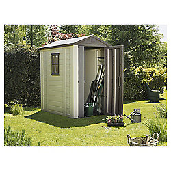 keter apex plastic garden shed 4x6 ft