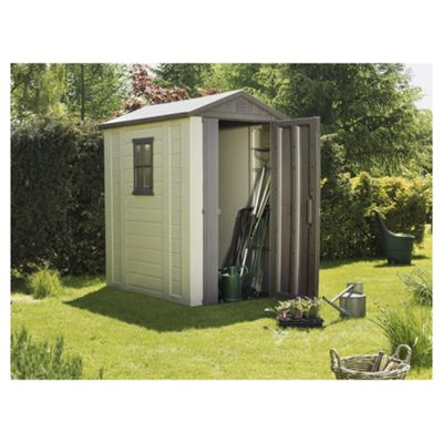 Keter Apex Plastic Garden Shed, 4x6 Ft