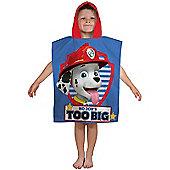 Paw Patrol Pawsome Hooded Towel Poncho
