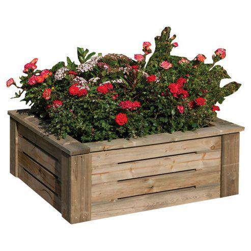 Rowlinson Raised Wooden Flower Bed