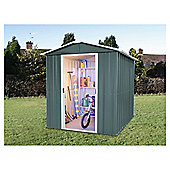 Yardmaster 6'1x7'5 Titan Metal Apex Shed with floor support frame