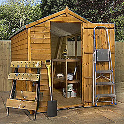 Mercia Apex Overlap Wooden Shed, 7x5ft