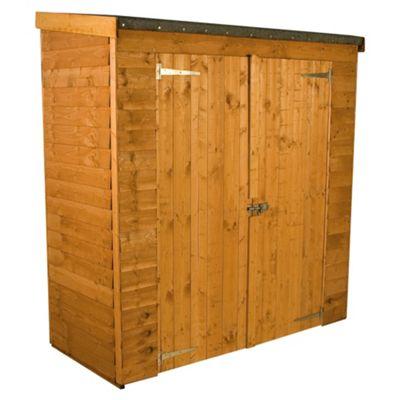 Mercia Pent Double Door Overlap Wooden Shed, 6x3ft