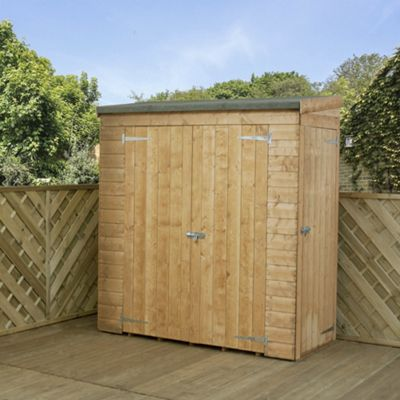 Mercia Pent Wooden Garden Shed with Side Door, 6x3ft