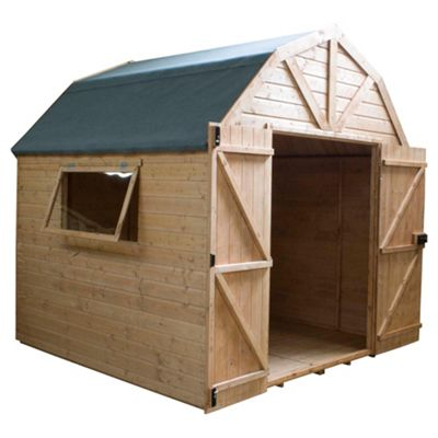 Mercia Dutch Style Shiplap Wooden Shed, 7x7ft