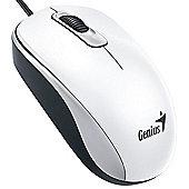 Genius DX-110 USB Optical 1000DPI Ambidextrous White mice