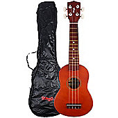Stagg US10 Soprano Ukulele with Free Bag