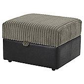 Kendal Jumbo Cord Storage Footstool, Dark Grey