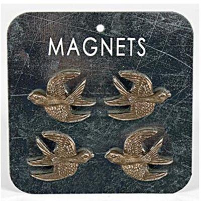 Swallow Bird Metal Memo / Notice Board / Note Magnets - Bronze