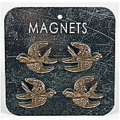 Swallow Bird Metal Memo / Notice Board / Note Magnets - Bronze