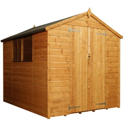 Mercia Apex Shiplap Wooden Shed, 8x6ft