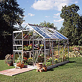Halls 6x8 Popular Aluminium Greenhouse + Aluminium Base-frame - Horticultural Glass