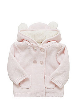 F&F Borg Lined Hooded Cardigan - Pink