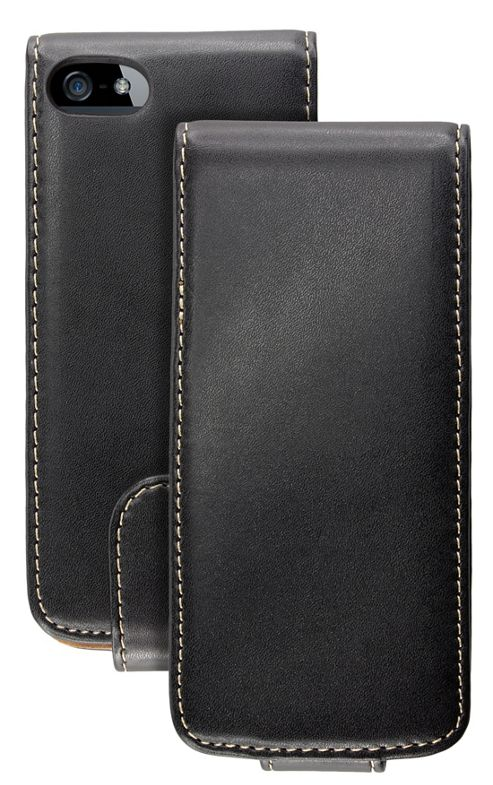Caseit Leather Effect Flip Case Cover for iPhone 5/5S - Black