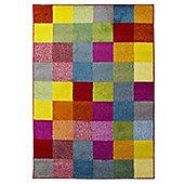 Brights Grid Multi Coloured Rug - 160x230cm