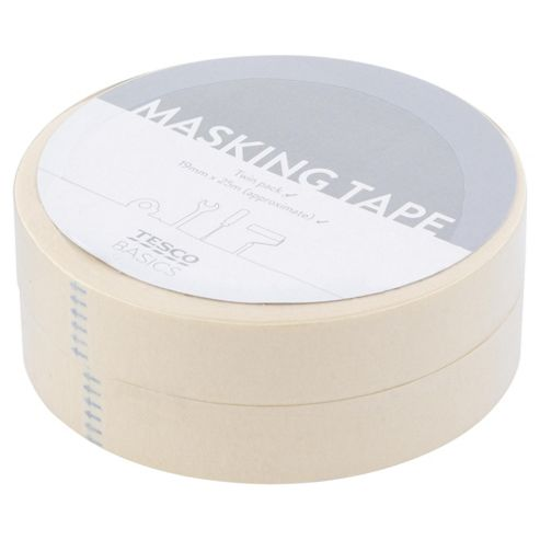 Tesco Value Masking Tape Twin Pack