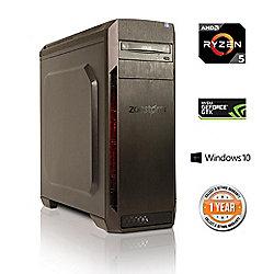 Zoostorm Voyager Desktop PC Tower AMD Ryzen 5 2TB Western Digital HDD Windows 10 GeForce GTX 1060 3GB