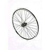 "26"" Rear Silver Q/R Wheel D/W Disc, 8/9 Spd Cassette"