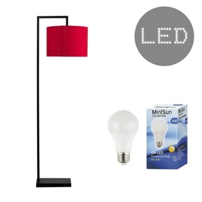 Linus 145cm LED Floor Lamp - Red