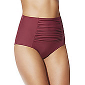 F&F Shaping Swimwear High Waisted Bikini Briefs - Brick