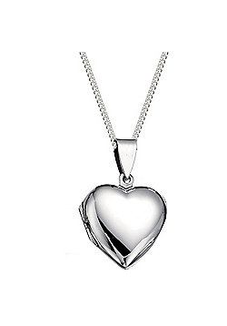 Large Silver Heart Locket with 18 inch chain