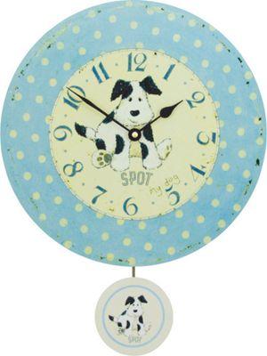 Roger Lascelles Clocks Spot My Dog Pendulum Wall Clock