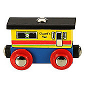 Bigjigs Rail Rail Name Guards Van