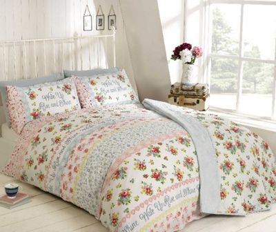 Rapport Rise And Shine Pink Duvet Cover Set - Single