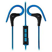 KITSOUND RACE SPORTS BLUETOOTH EARBUDS BLACK AND BLUE