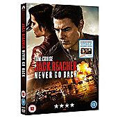 Jack Reacher Never Go Back DVD