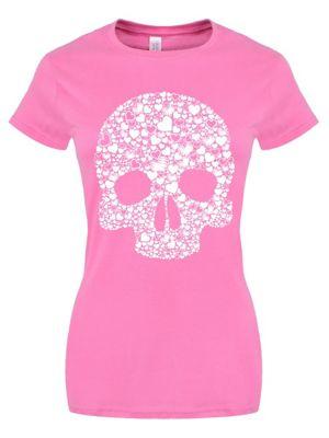 Skull Heart Pink Women's T-shirt