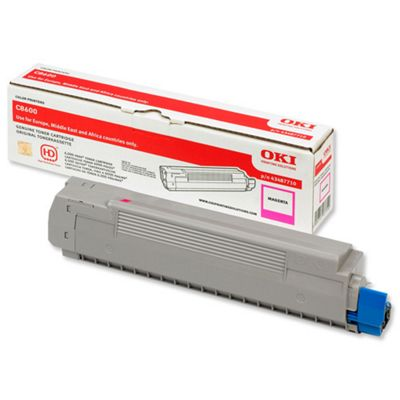 OKI Toner Cartridge for C8600 Colour Printers (Magenta)