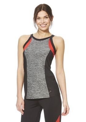 F&F Active Racer Front Vest Top Red/Multi XL