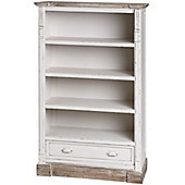 New England Low Bookcase with Drawer
