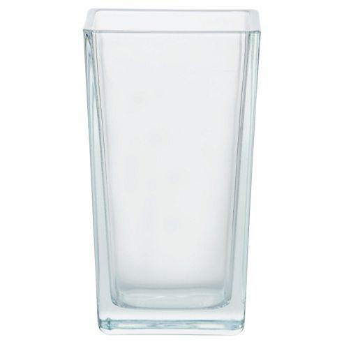 Tesco glass tank vase 18cm