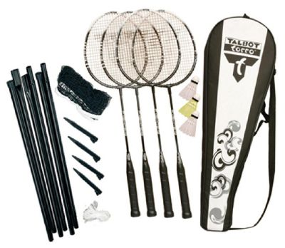 Fighter 4 player badminton set