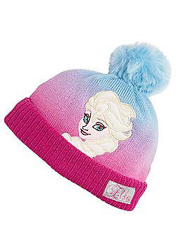 Disney Frozen Elsa Ribbed Knit Bobble Hat - Multi