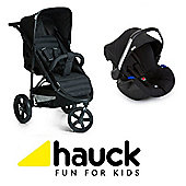 Hauck Rapid 3 Travel System/Soft Carrycot - Caviar/Black