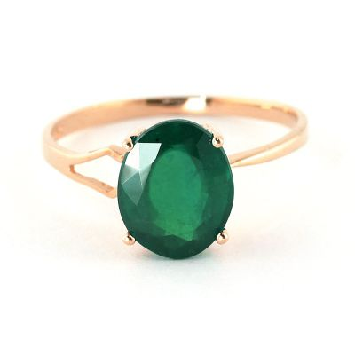 QP Jewellers 2.90ct Emerald Marvel Ring in 14K Rose Gold - Size I