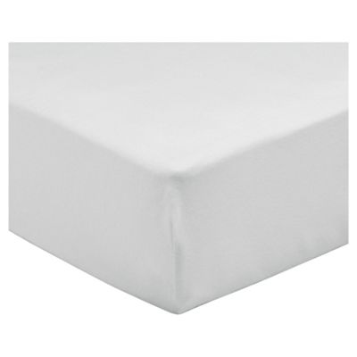 Tesco Double Fitted Sheet, White