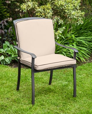 Gardenista Water Resistant Seat Pad for Homebase Lucca Garden Chair - Stone
