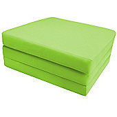Ready Steady Bed Single Cotton Twill Fold Out Cube - Lime
