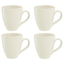 Tesco Riven 4 Piece Cream Mug Set