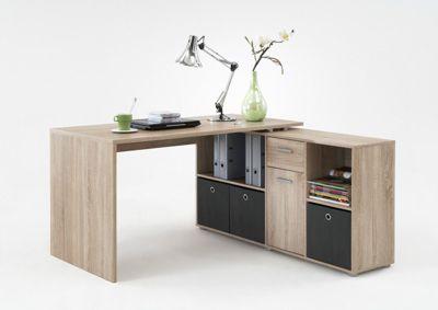 Stanton Corner Multi Position Office Desk Light Wood