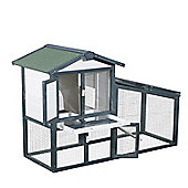 Pawhut Large Wooden Pet Run Hutches Cage Guinea Pig Double Decker