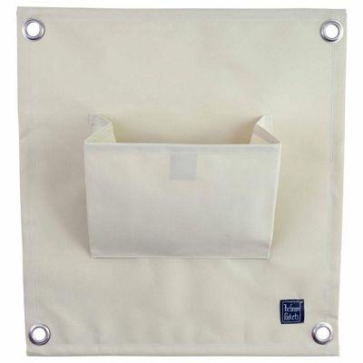 Ivory Coloured Wall-mountable Fabric Pocket Wall Planter